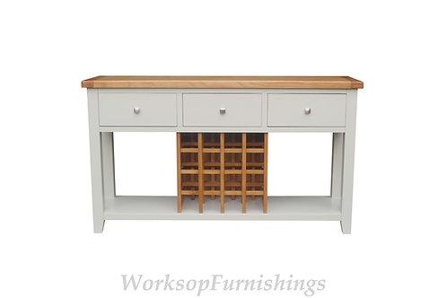 Hampshire Grey And Oak Wine Rack Sideboard