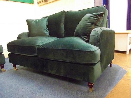 'Aspen' Emerald Green Velvet 2 Seater Sofa