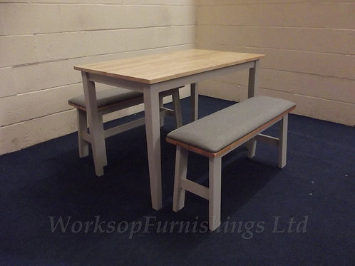'August Grove' Dining Table And 2x Bench Set