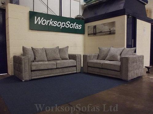 'Bentley' Grey 3 & 2 Seater Sofa Suite