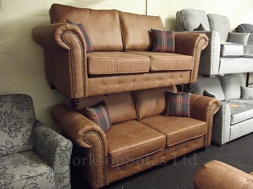 Fairfield Tan 3 & 2 Seater Suite