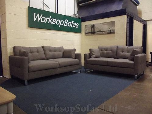 'Hera' 3 & 2 Grey Sofa Suite