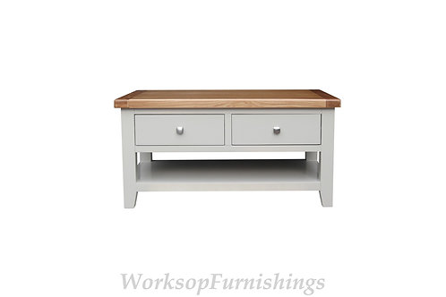 Hampshire Grey And Oak Coffee Table