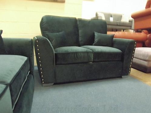 'Amy' Green Velvet 2 Seater Sofa