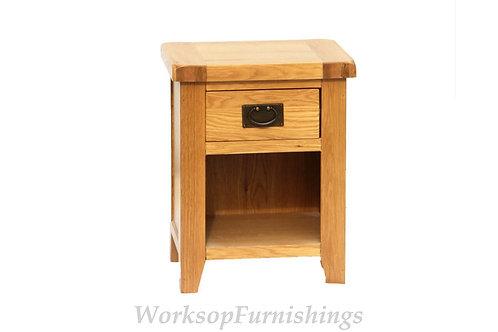 Portland Oak 1 Drawer Side Table