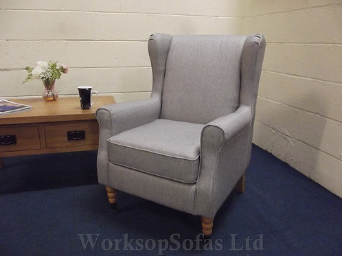Grey Wingback Armchair