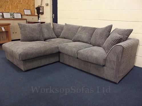 'Dylan' Grey Corner Sofa