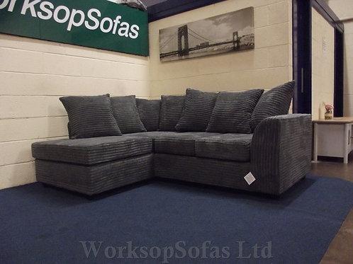 Byron Grey Cord Corner Sofa