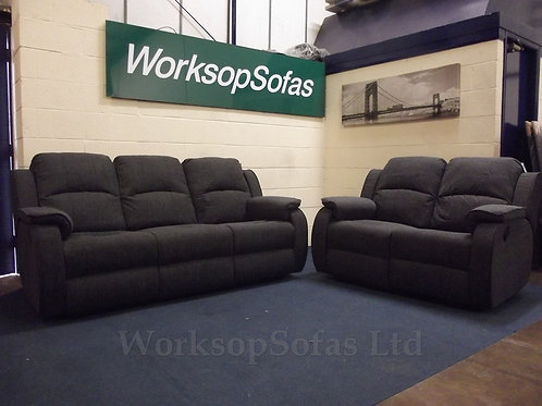 'Florida' Grey 3 Seater And 2 Seater Sofa Suite
