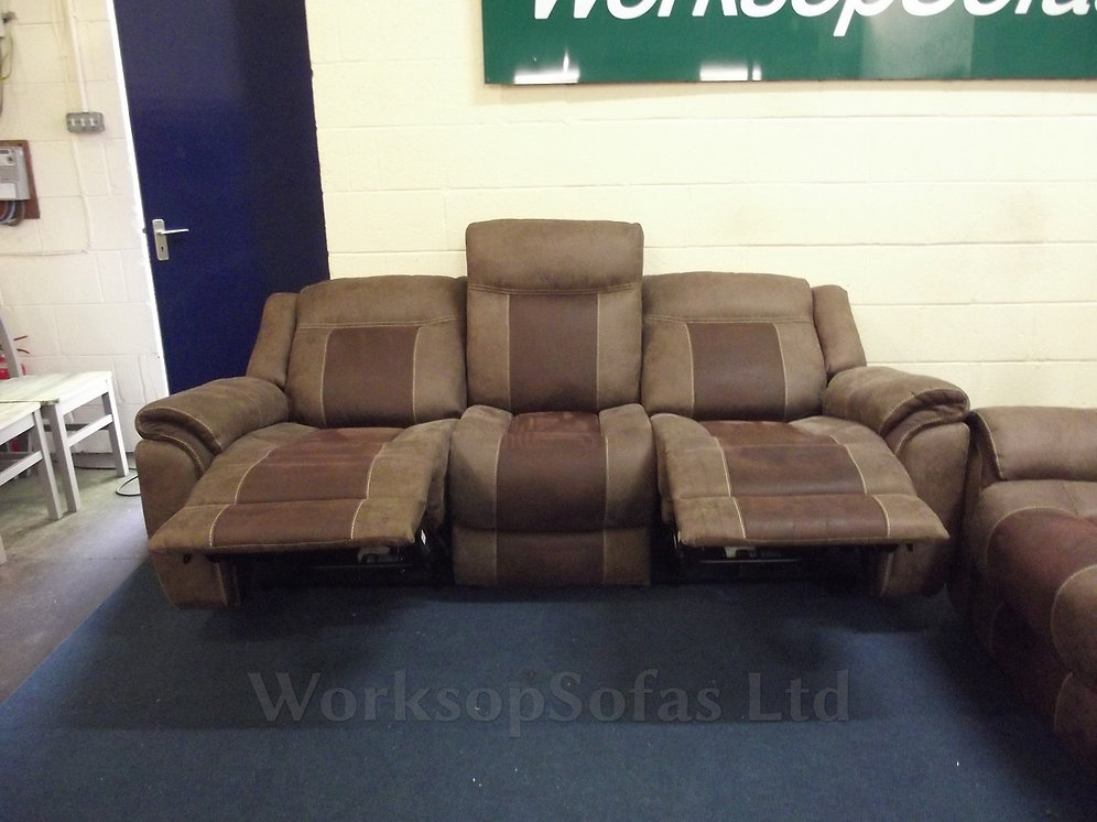 Barkley Power Reclining Console 2 Seater And 3 Seater Sofa