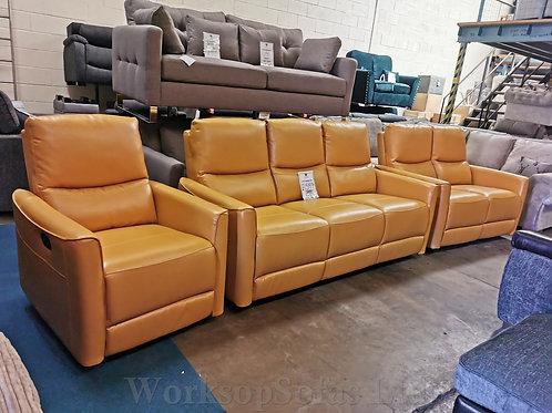 'Harry' Mustard Yellow 3 & 2 & 1 Sofa Suite