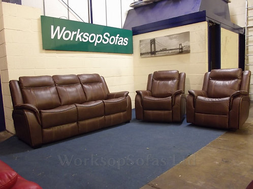 New Hampshire Tan 3 Seater & 2 Reclining Chairs