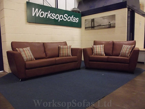 The Brian Tan 3 & 2 Seater Sofa Suite