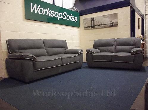 Dakota Grey 3 & 2 Seater Sofa Suite