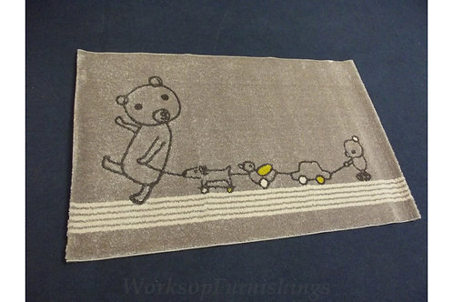 Grey And Yellow Children's Nursery Rug