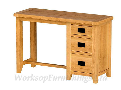 Portland Oak Desk/Dressing Table And Stool