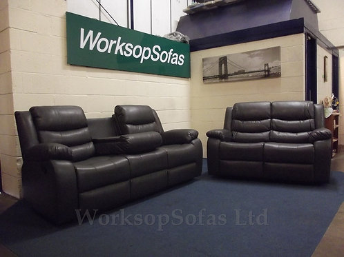 Washington 3 Seater And 2 Seater Sofa Cupholder Suite