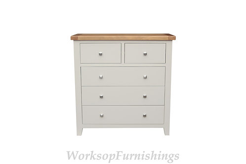 Hampshire Grey And Oak 2 Over 3 Drawer Chest