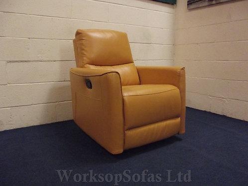 'Harry' Mustard Yellow Manual Reclining Armchair