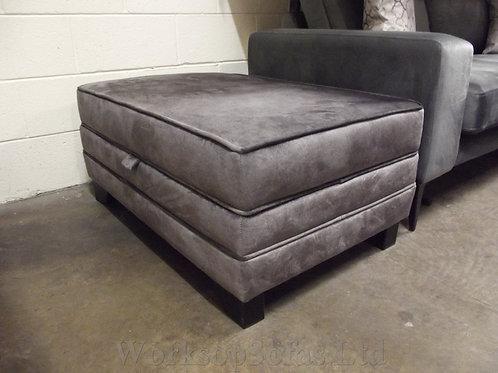 'Ariana' Grey Storage Footstool