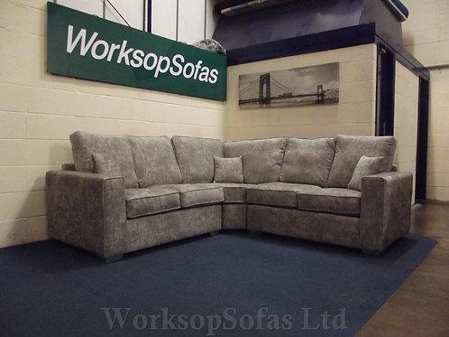 'Darcy' Beige Grey Corner Sofa