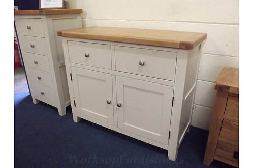 Hampshire Grey And Oak Small Sideboard
