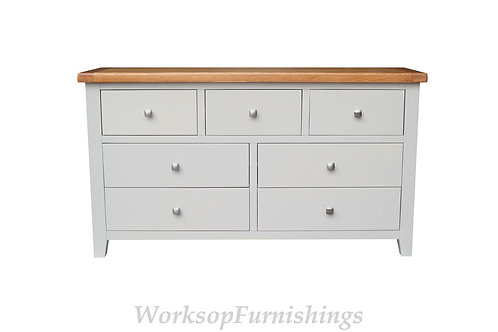 Hampshire Grey And Oak 3 Over 4 Drawer Chest