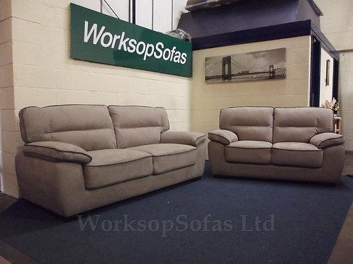 Dakota Light Brown 3 & 2 Seater Sofa Suite