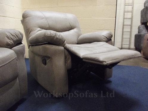 'Arizona' Grey Reclining Armchair