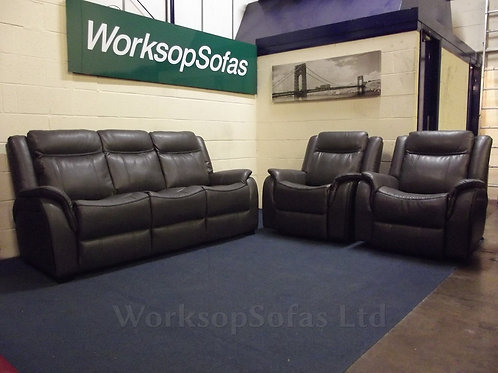 New Hampshire Grey 3 Seater & 2 Reclining Chairs