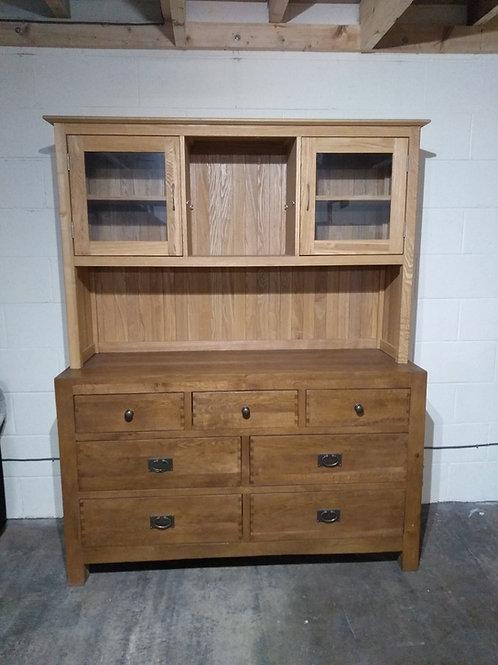 Solid Oak Sideboard With Dresser Top