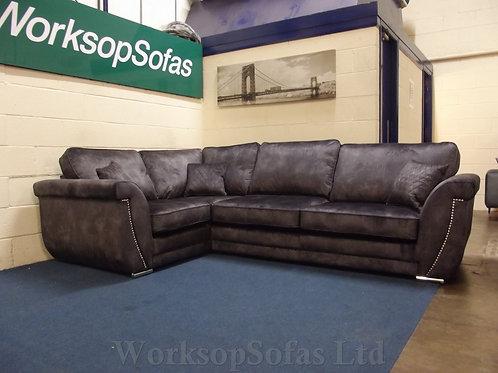 'Elle' Grey Left Hand Corner Sofa