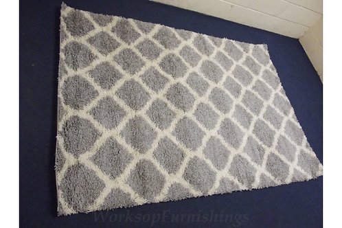 Grey And Ivory Large Area Rug