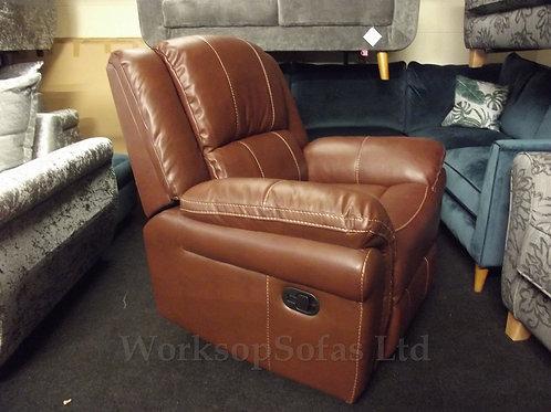 'Georgia' Chestnut Reclining Armchair