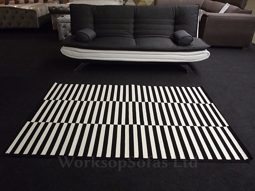 Black And Cream Panel Rug By 'Hanse Home'