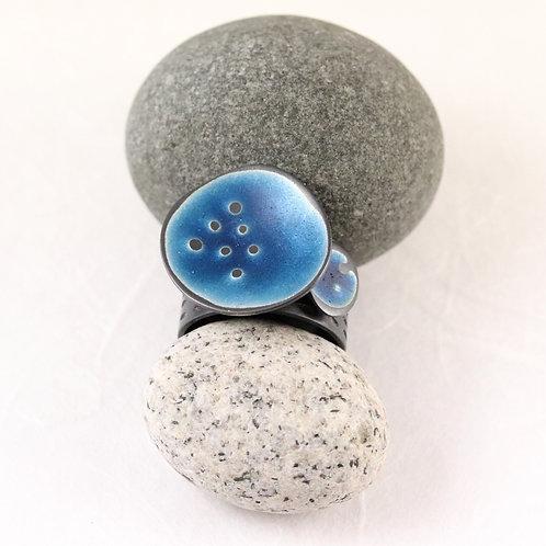 Sealife Ring Wide - Blue U