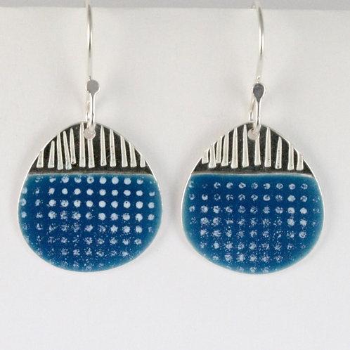 Island Earring Drops - blue