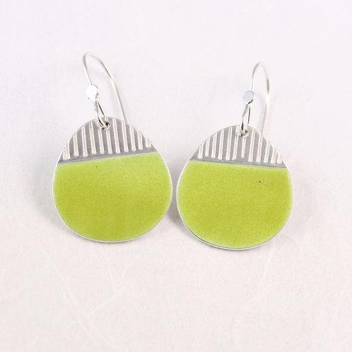 Island Earring Drops in Spring Green