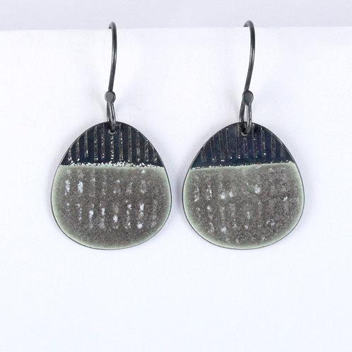 Island Earring Drops - warm grey