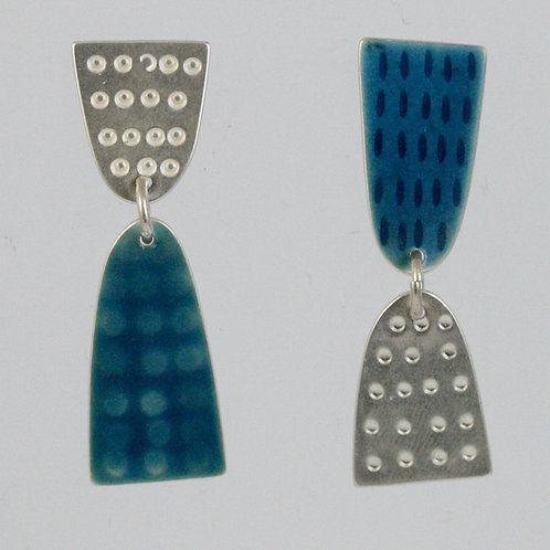 Leonora Earrings - Blue, made to order