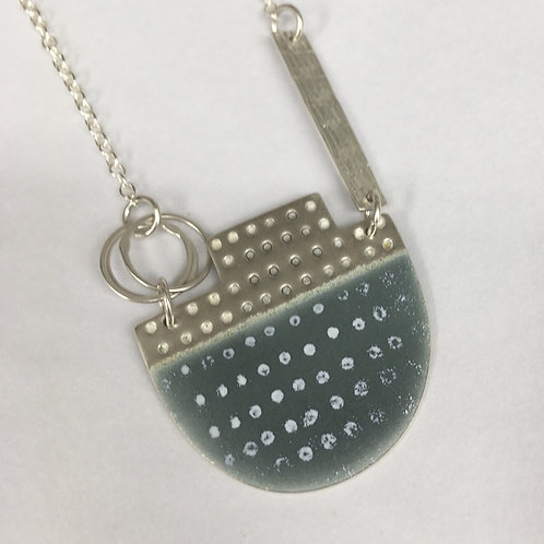 Island Tidal Necklace - Grey