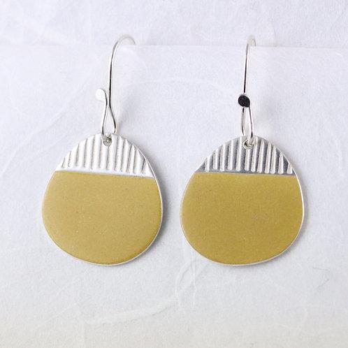 Island Earring Drops Yellow