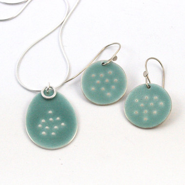 Sealife Pendant and Earrings