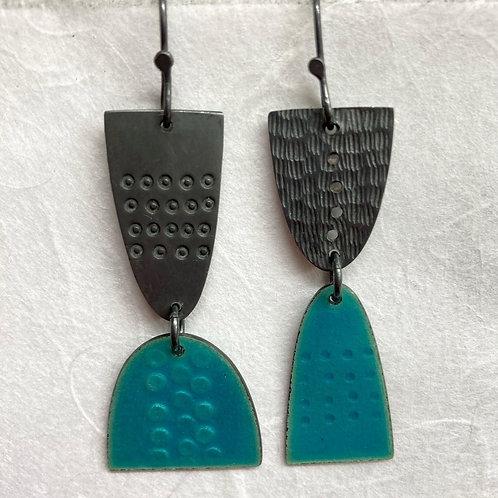 Leonora Earrings Dangly - Turquoise