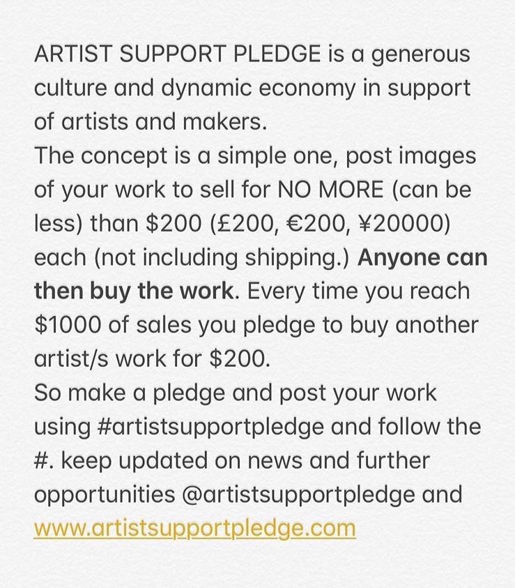 Artist Support Pledge