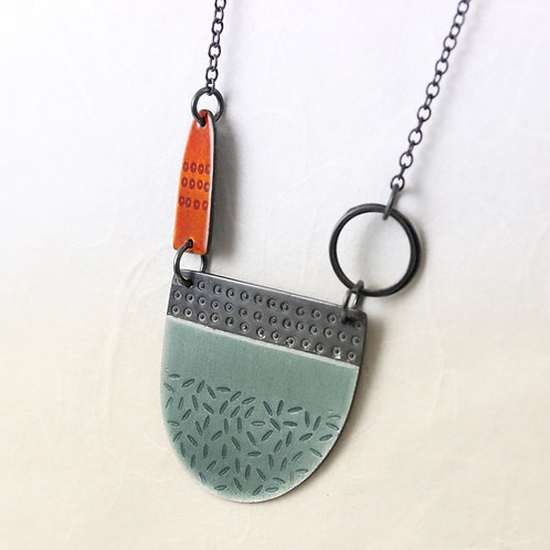 Tidal Necklace - Grey and Orange
