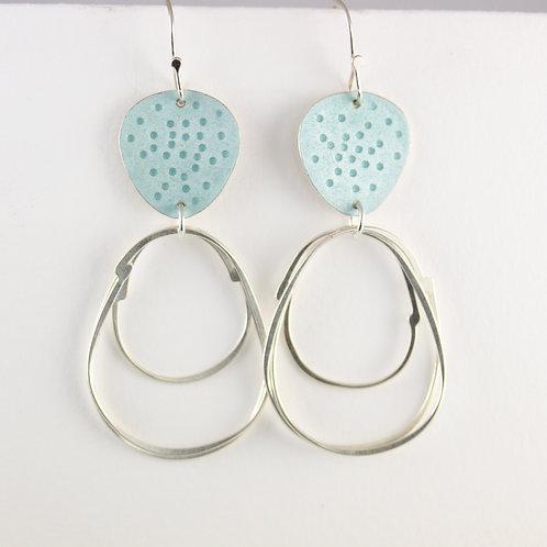 Flotsam Earrings with loops in Seaglass
