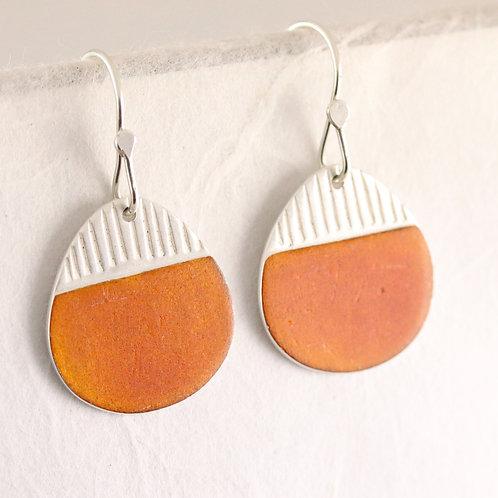 Island Earring Drops in Orange