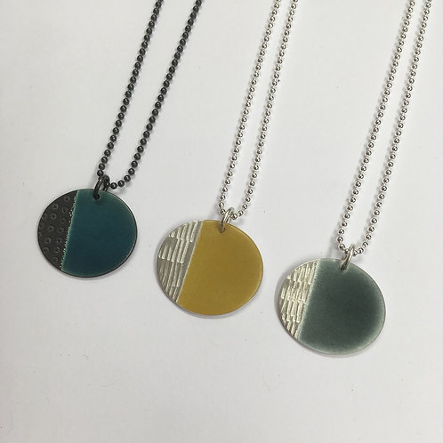 Island Pendant small - various colours, satin silver
