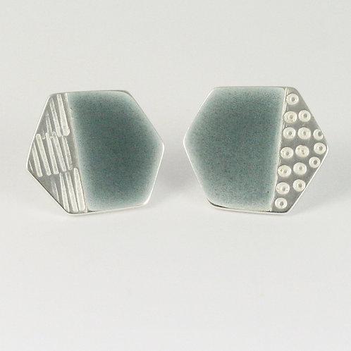 Basalt Stud Earrings Grey